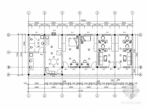 [湖北]小型水库除险加固工程管理用房施工图
