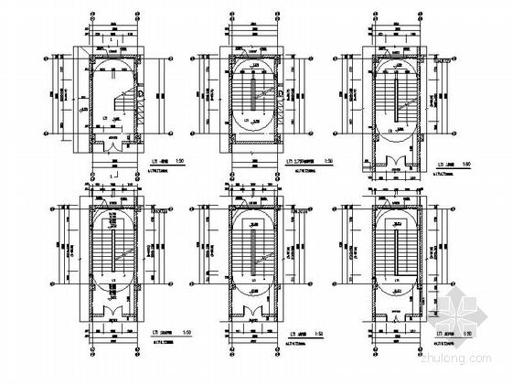 [湖北]八层框架结构涂料外墙办公楼建筑施工图-八层框架结构涂料外墙办公楼建筑详图