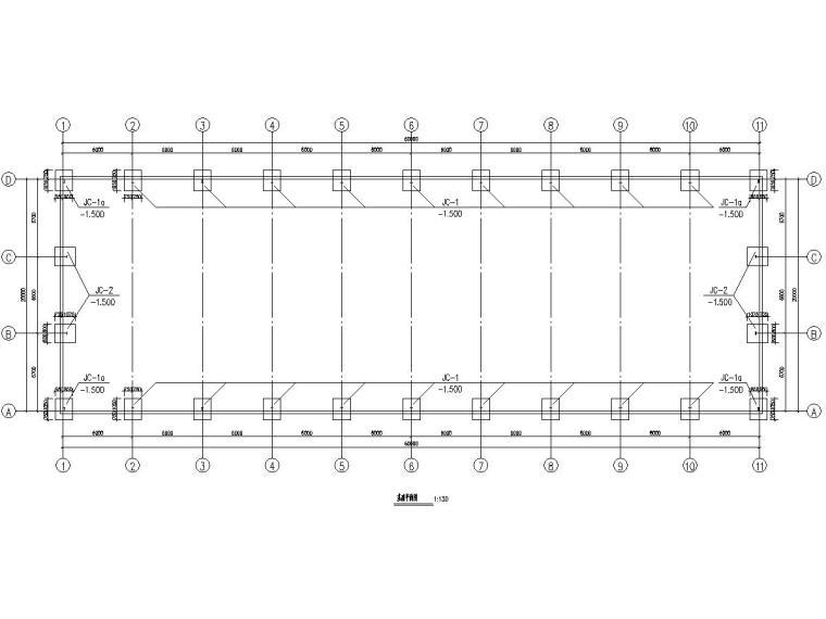 20米跨门式刚架结构厂房结构施工图