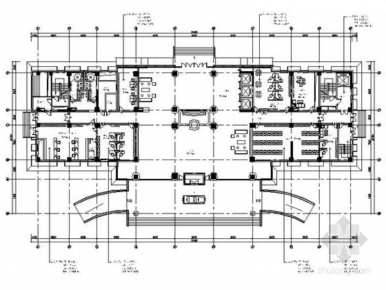 [安徽]生态产业文化园研发中现代办公室室内装饰施工图