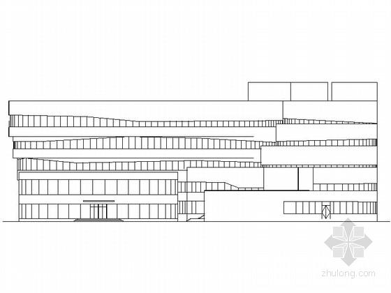 [内蒙古]20米现代风格市级医院门诊大楼建筑设计施工图