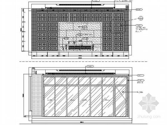 [昆山]新古典双层别墅样板房装修图(含效果)客厅立面图