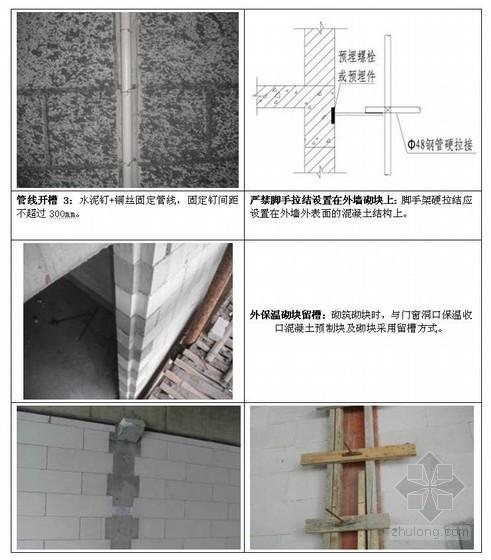 建筑外墙砂加气砌体工程施工工艺操作手册