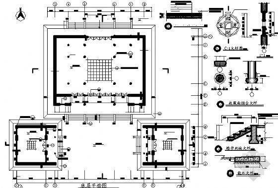 某财神殿建筑方案图-3
