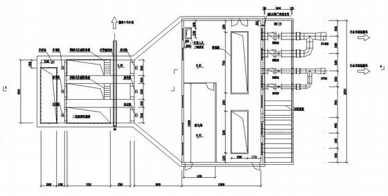 某污水处理厂粗格栅间、提升泵房平面图