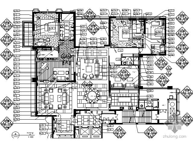 [广东]某国际公寓经典样板房施工图(含实景)