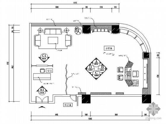 130平总裁办公室精装修图