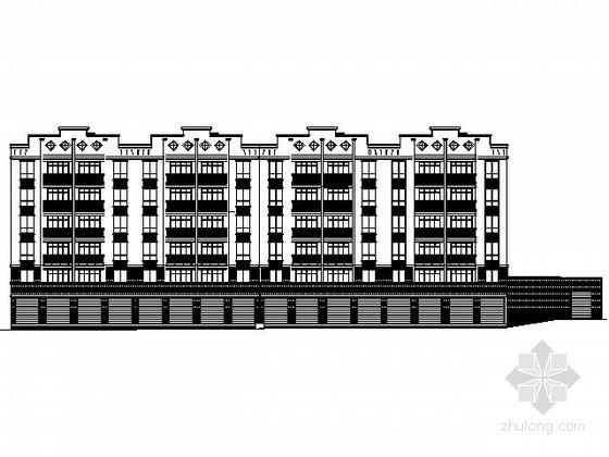[重庆]某六层沿街商住楼建筑施工图(南梯)