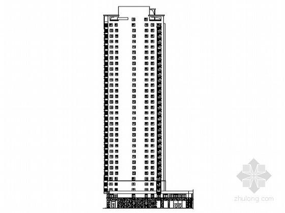 合肥某公寓商业工程2号楼裙楼外立面幕墙装饰工程建施图(含说明)