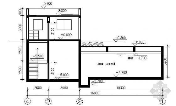 某水池与泵房建筑结构设计图纸