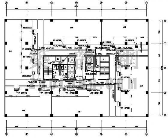 VRV空调设计图资料下载-某塔楼VRV空调设计图