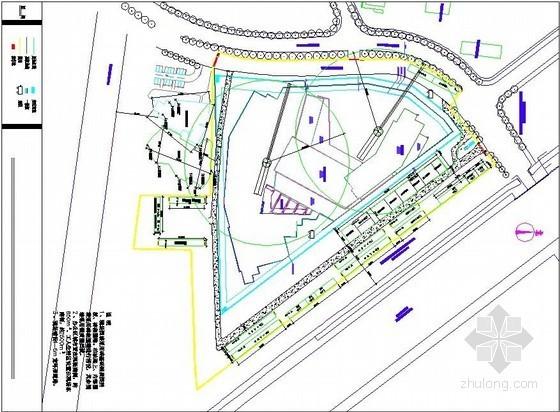高层酒店工程地上部分施工现场平面布置图(结构、装修、临水临电)