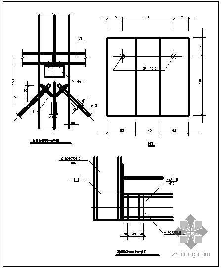 某拉条与钢梁连接节点构造详图