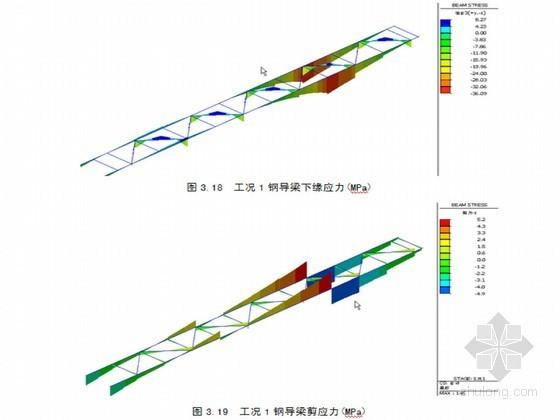 48+66+48m连续钢箱梁顶推施工钢箱梁和钢桁架导梁结构分析报告