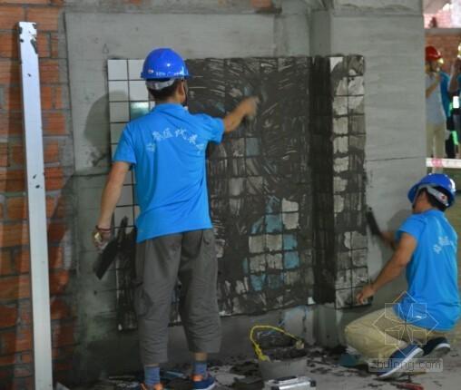 装饰装修工程贴砖施工工序