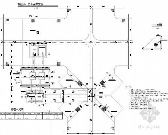 干排泵站图纸(泵房图 剖面图)
