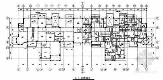 [武汉]框架剪力墙结构住宅楼结构施工图(13层 预应力混凝土管桩基础)