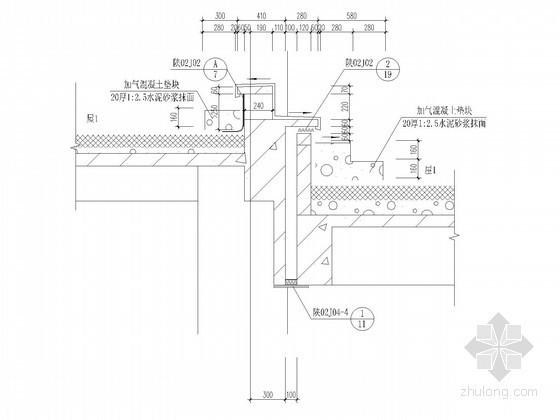 [陕西]18层商住楼墙体大样图