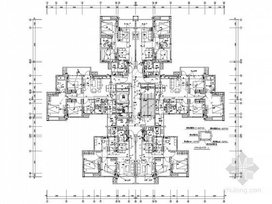 [四川]24.5万大型高层商住楼全套电气施工图纸151张(3栋商住楼、5栋住宅楼及车库)