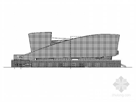 [河北]现代风格弧形幕墙式多层健身中心建筑施工图(含电影院)