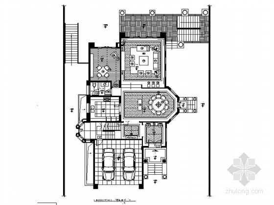 [南京]优雅豪华时尚复式住宅室内设计全套施工图(含物料明细表)