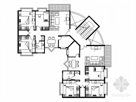 多层与小高层单体建筑多户型合集图