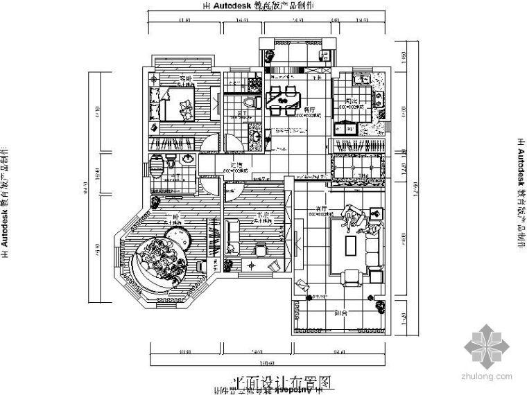 三居室平面设计图(附效果)