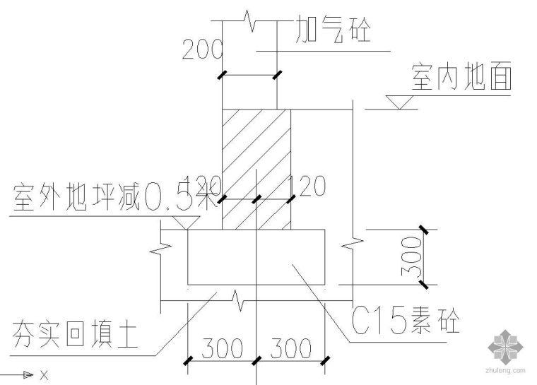 某室内填充墙基础节点构造详图
