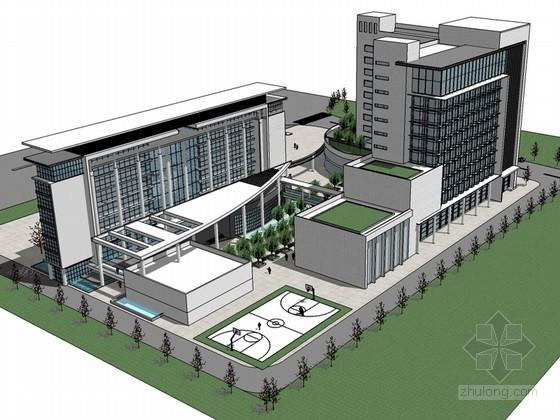 综合办公建筑SketchUp模型下载