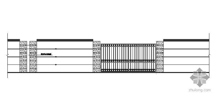 围栏设计立面图