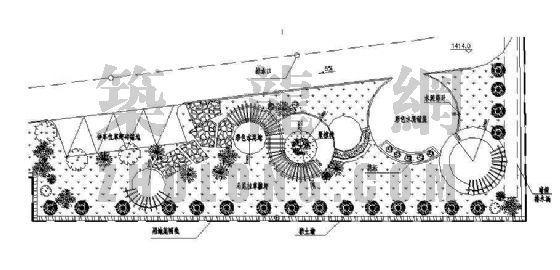 陕西某办公楼后小园设计及施工图