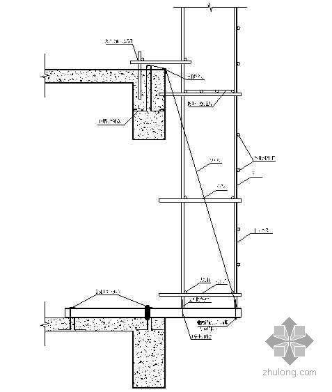 南京市某服务楼悬挑工字钢外脚手架施工方案(专家评审)