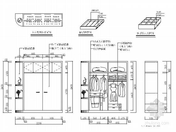 衣柜立面圖圖片