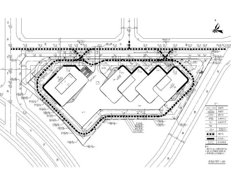 [深圳]双栋超高层塔楼裙楼地下室给排水雨水气体灭火系统施工图
