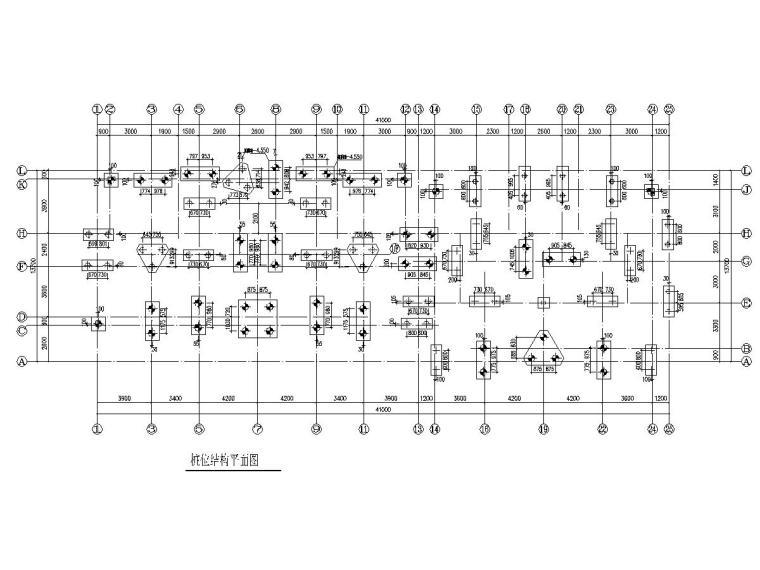 湖州五层框架结构安置房结构施工图