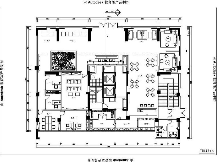 [深圳]现代简约时尚大气售楼处室内设计施工图(含效果图)