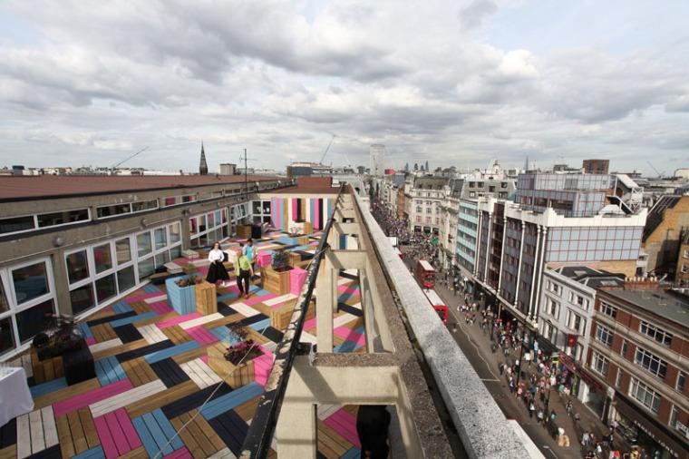 英国时装学院屋顶甲板区的改造