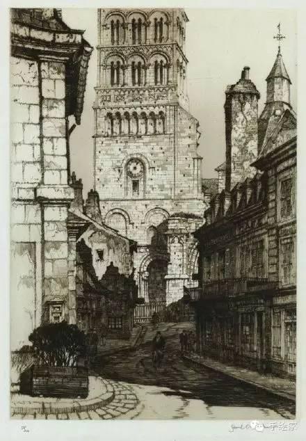 百年经典建筑设计手绘图_6