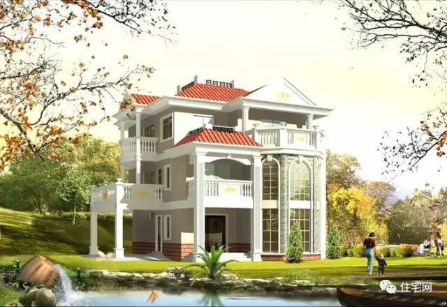 框剪结构农村欧式别墅,7室2厅,7度抗震设防(全图)