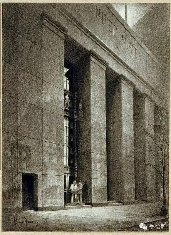 百年经典建筑设计手绘图_47