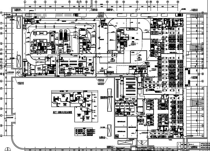 [广东]知名商业办公楼空调通风及防排烟系统设计施工图(制冷机房)