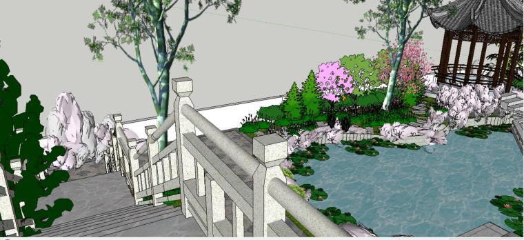 座凳•座椅,景墙•围墙,水景庭院设计su模型_8