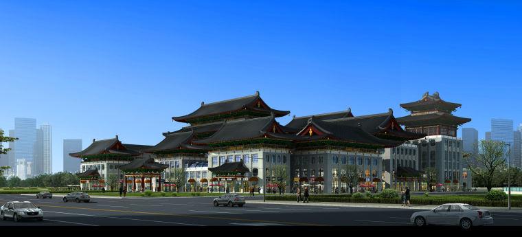 新中式园林古建筑模型设计(3DMAX模型)