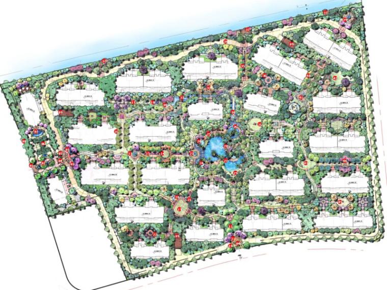 [上海]法式高档居住区景观概念规划设计