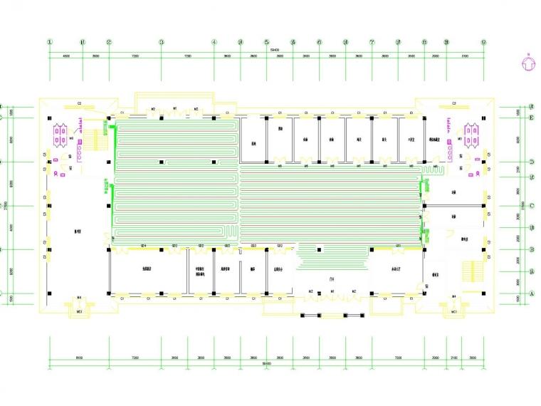 采暖管网施工图资料下载-多层候车厅采暖系统设计施工图