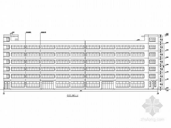 [浙江]六层框架结构二产返回标准厂房结构施工图(含建筑图)