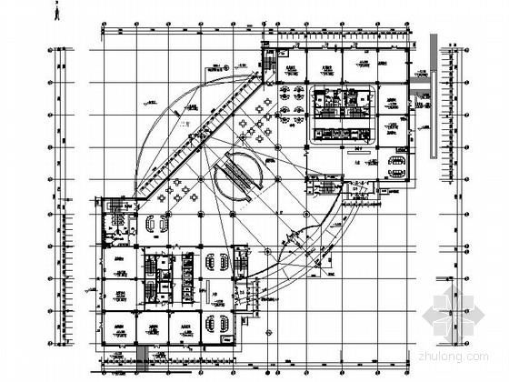 [鄂尔多斯]商业地产广场高档商场步行街装修施工图(含效果)