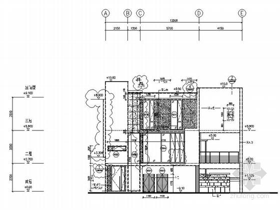 [海南]高档度假酒店式别墅室内装修施工图(含实景图)立面图