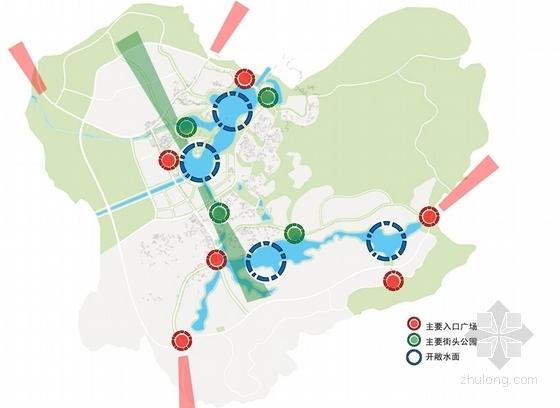 国际温泉度假区概念性规划设计分析图