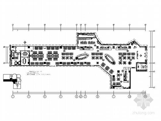 [江苏]五星级大饭店西餐厅装修设计CAD施工图(含效果)
